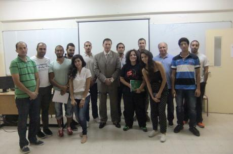 Students with guest speaker