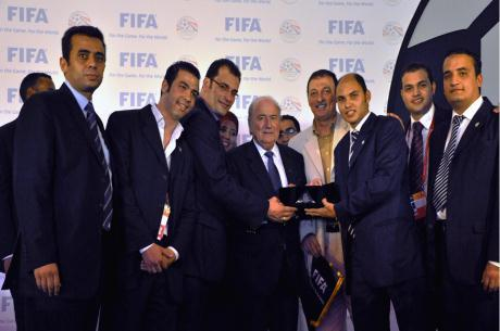 FIFA President meeting students of the FIFA/CIES Programme in Egypt