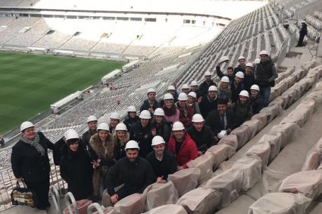Visit of the stadium
