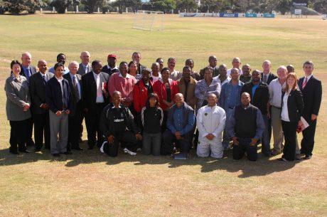 Students of the 1st edition on the FIFA/CIES Programme in South Africa